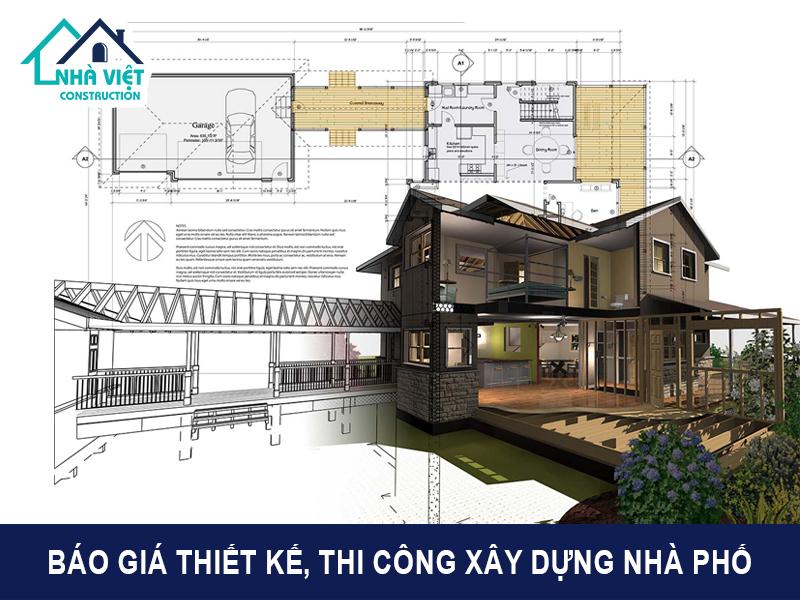 bao gia thiet ke thi cong xay dung nha pho tron goi tai tphcm - Báo giá thiết kế, thi công xây dựng nhà phố trọn gói tại TPHCM