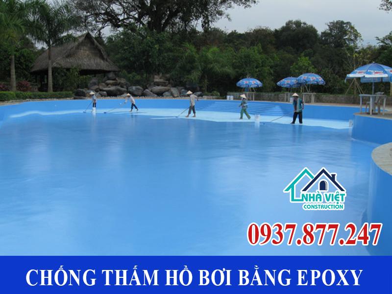 chong tham ho boi bang epoxy - Dịch vụ Chống thấm hồ bơi tại TPHCM an toàn triệt để 100%