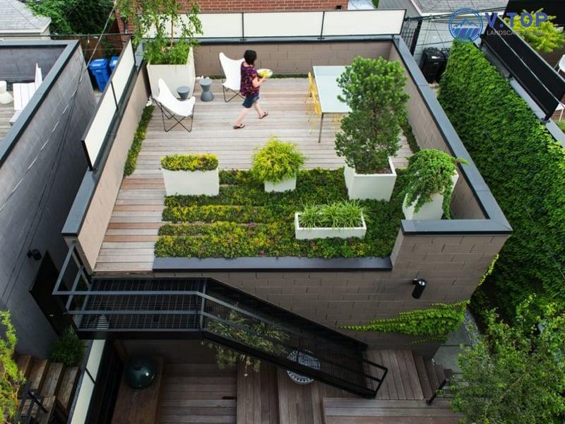 lam vuon tren san thuong - Chống thấm sân thượng để trồng cây giá rẻ - uy tín tại TPHCM
