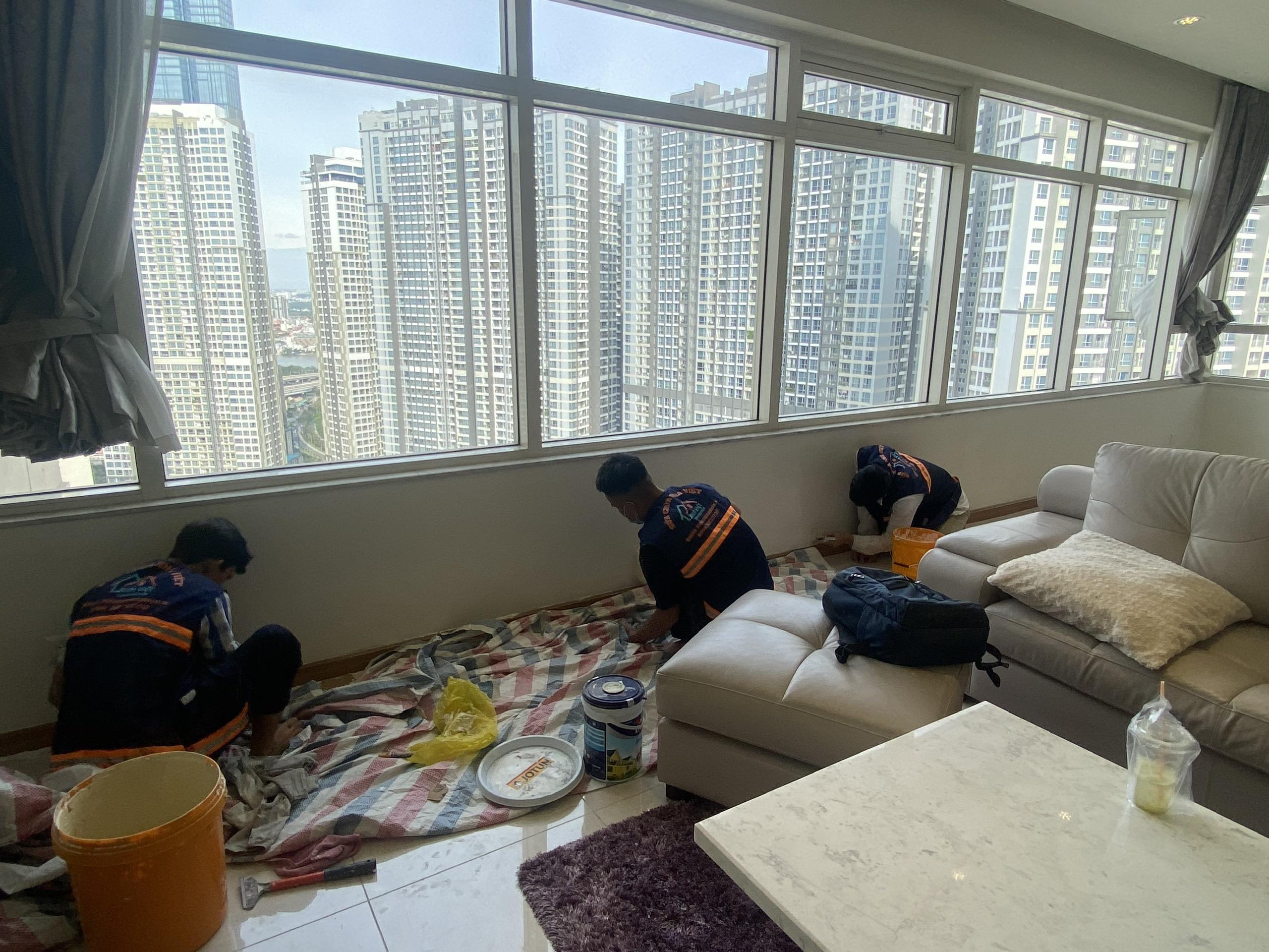 thi cong son nuoc gia re 1 - Thi công sơn nước giá rẻ, chất lượng, tại Tp Hồ Chí Minh