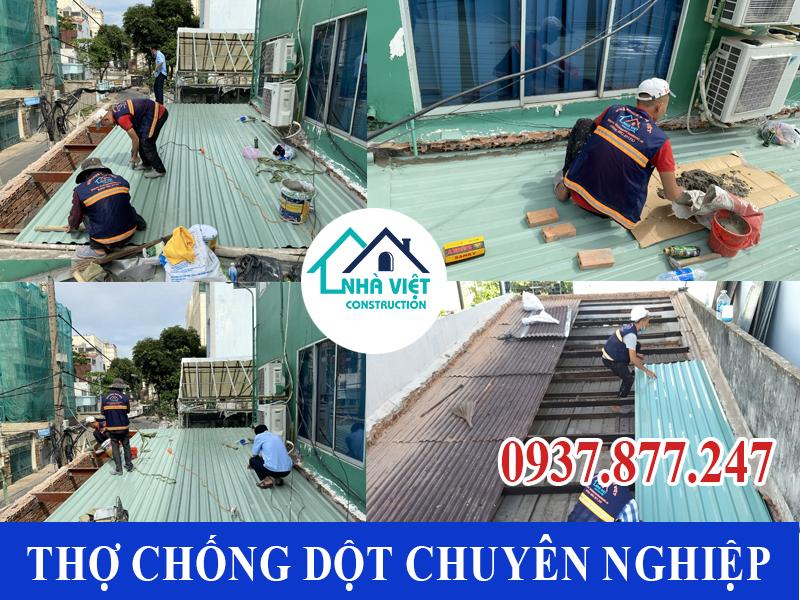 tho thi cong chbong dot tphcm 1 - Thợ Chống dột mái tôn TP Hồ Chí Minh triệt để 100%