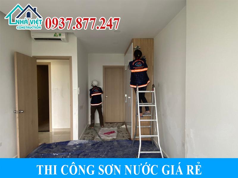 thi cong son nuoc gia re 2 - Thi công sơn nước giá rẻ, chất lượng, tại Tp Hồ Chí Minh