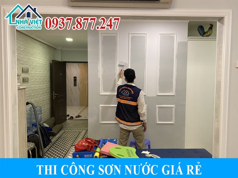 thi cong son nuoc gia re 4 - Thi công sơn nước giá rẻ, chất lượng, tại Tp Hồ Chí Minh