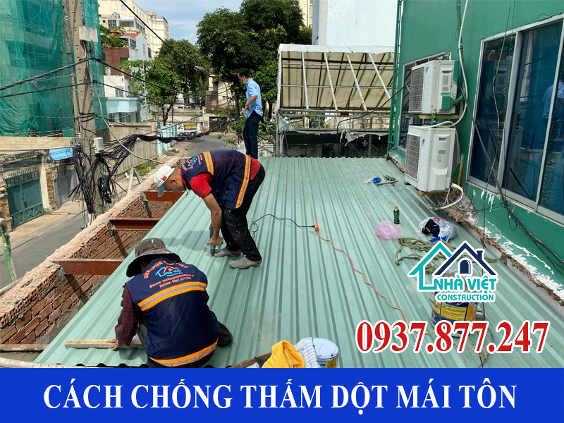 cach chong tham dot mai ton 10 - 10 Cách chống thấm dột mái tôn đơn giản hiệu quả