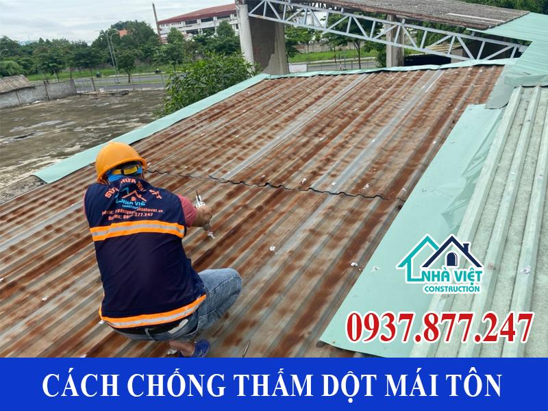 cach chong tham dot mai ton 6 - 10 Cách chống thấm dột mái tôn đơn giản hiệu quả