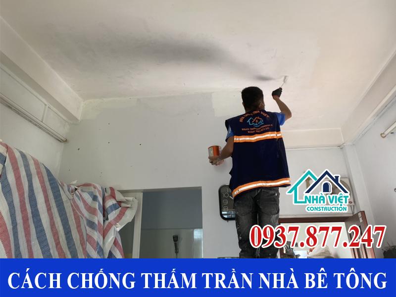 cach chong tham tran nha be tong 2 - Cách chống thấm trần nhà bê tông đảm bảo triệt để 100%
