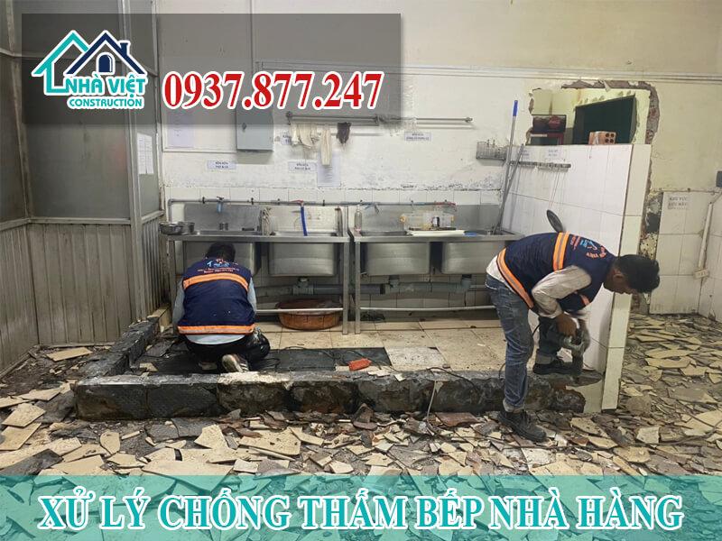 xu ly chong tham bep nha hang 1 - Xử lý chống thấm bếp nhà hàng hiệu quả số 1 tại TPHCM