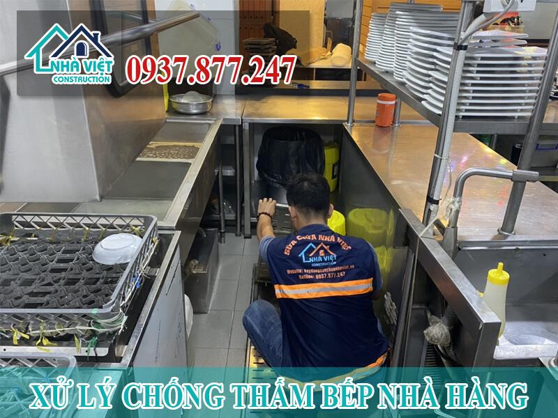 xu ly chong tham bep nha hang 2 - Xử lý chống thấm bếp nhà hàng hiệu quả số 1 tại TPHCM