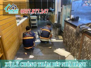 xu ly chong tham bep nha hang 3 300x225 - Xử lý chống thấm bếp nhà hàng hiệu quả số 1 tại TPHCM