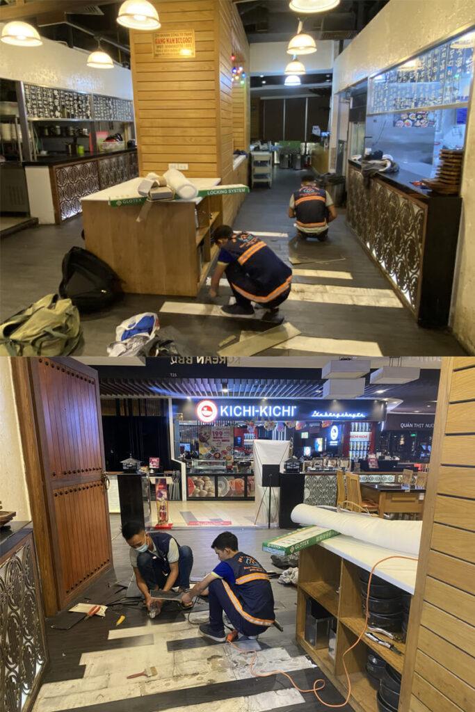 thi cong sua chua nha hang gang nam bul gogi binh tan 13 683x1024 - Thi công sửa chữa nhà hàng Gang Nam Bul Gogi Bình Tân