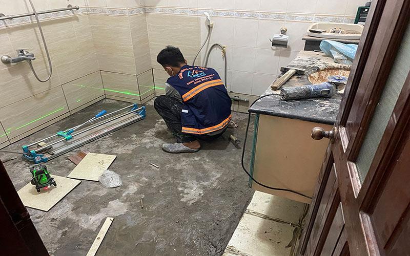 chong tham nha ve sinh tai quan7 1 - Sửa nhà phố tại quận 7 TPHCM – công trình nhà Chị Hương