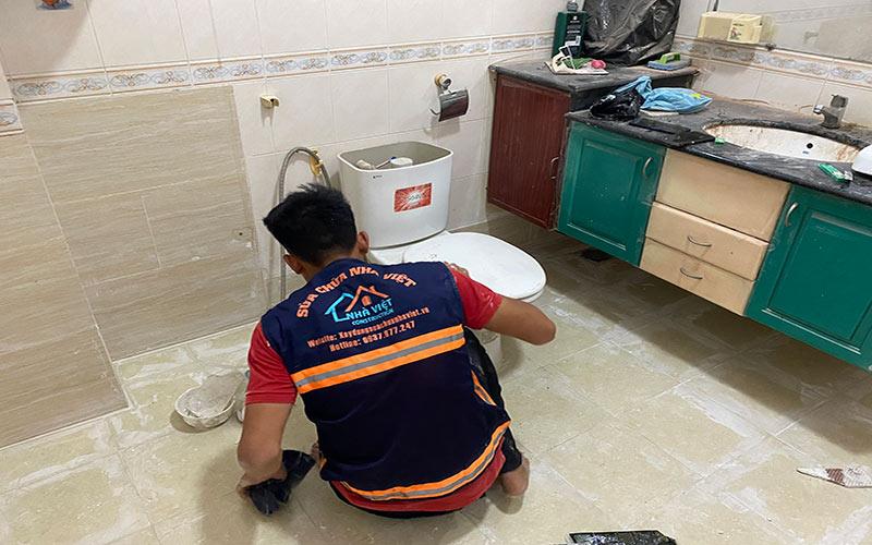 chong tham nha ve sinh tai quan7 2 - Sửa nhà phố tại quận 7 TPHCM – công trình nhà Chị Hương