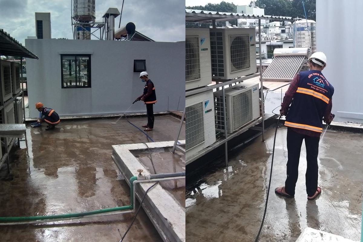 chong tham san thuong tai quan 10 3 - Chống thấm sân thượng nhà phố tại quận 10 – công trình nhà Chú Ngọc