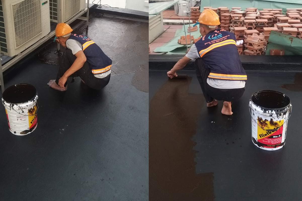 chong tham san thuong tai quan 10 5 - Chống thấm sân thượng nhà phố tại quận 10 – công trình nhà Chú Ngọc
