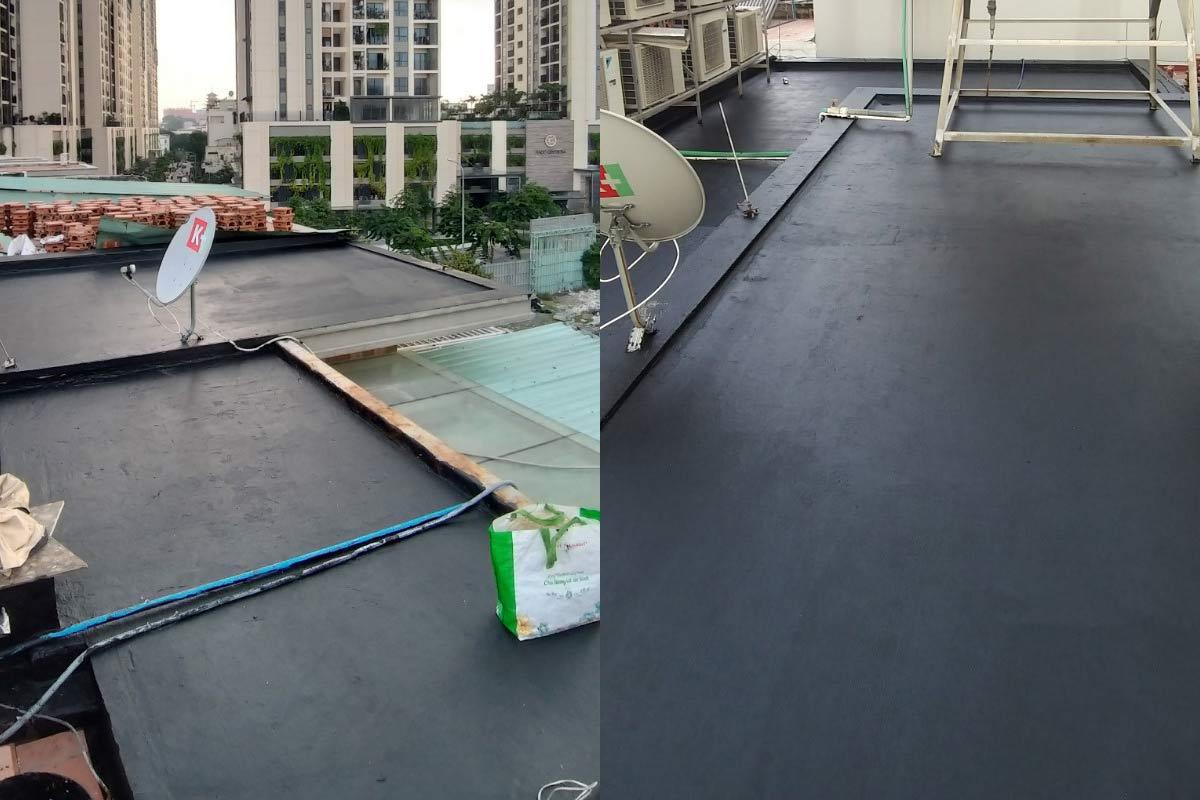 chong tham san thuong tai quan 10 6 - Chống thấm sân thượng nhà phố tại quận 10 – công trình nhà Chú Ngọc